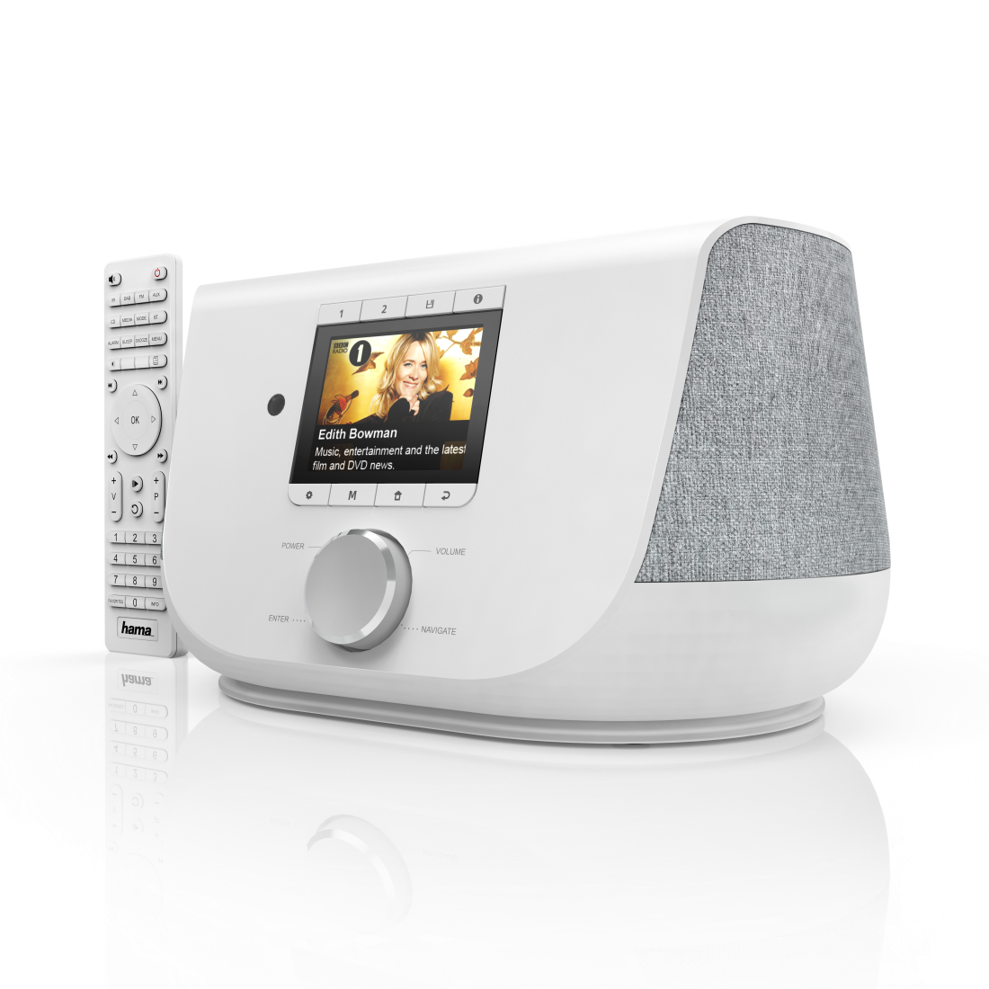 "abx3 High-Res Image 3 - Hama, ""DIR3300SBT"" Digital Radio, FM/DAB/DAB+/Internet Radio/App/Bluetooth, white"