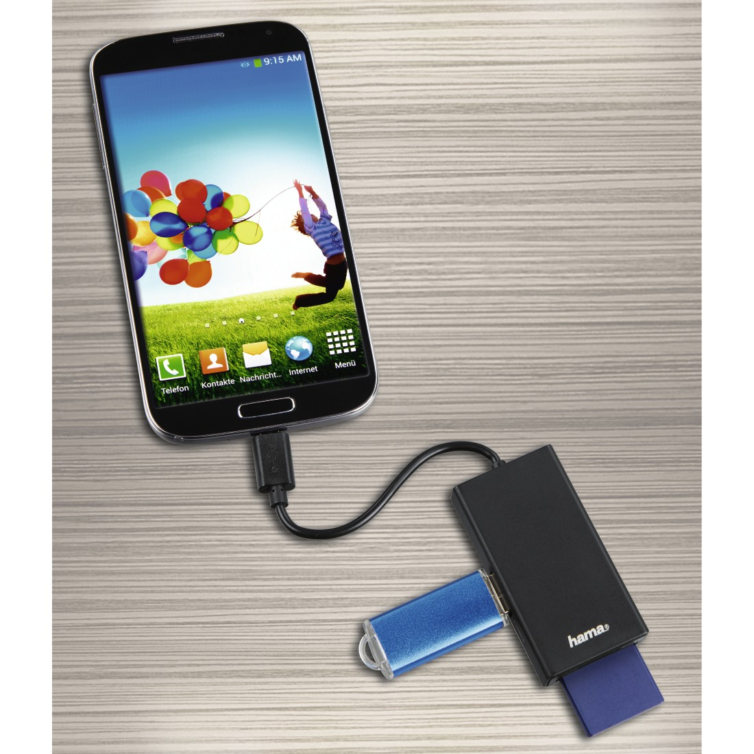awx High-Res Appliance - Hama, HUB/Cititor de carduri USB 2.0 Tip-C pentru Smartphone/Tablete/Laptop