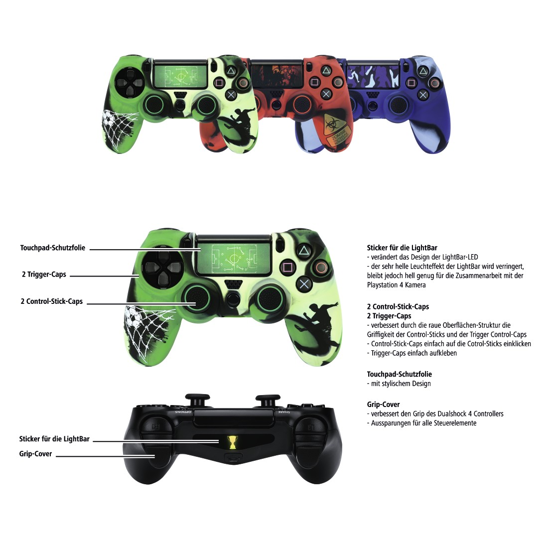"dex7 High-Res Detail 7 - Hama, PS4 ACCESSORY PACK ""SOCCER"" 7IN1"