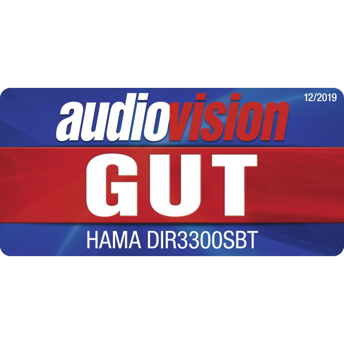 "tex Druckfähiges Testurteil - Hama, ""DIR3300SBT"" Digital Radio, FM/DAB/DAB+/Internet Radio/App/Bluetooth, white"