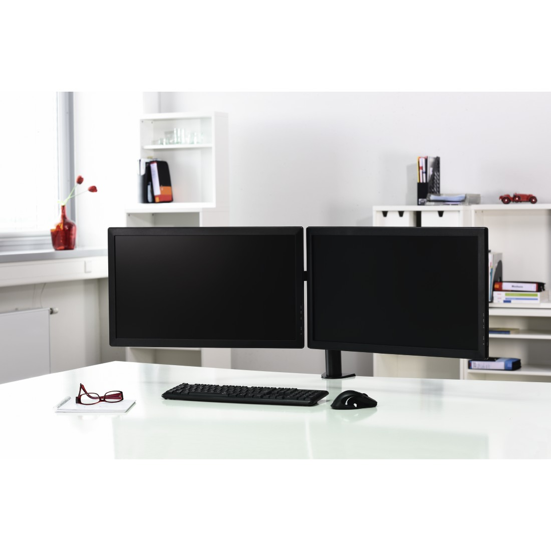 "awx High-Res Appliance - Hama, FULLMOTION Monitor Arm, for 2 screens, 66 cm (26""), 2 arms each, black"