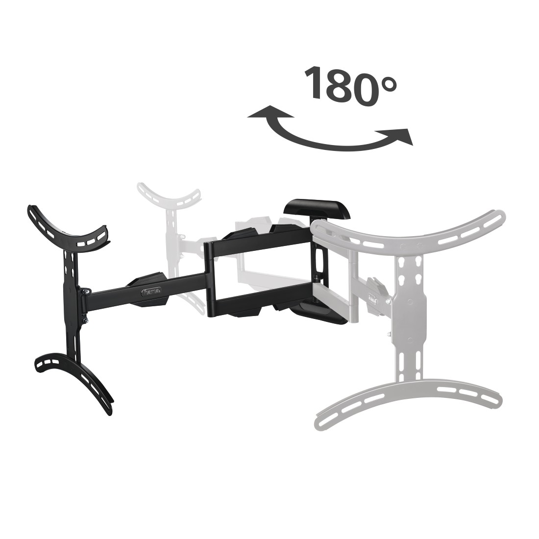 "dex2 High-Res Detail 2 - Hama, FULLMOTION TV Wall Bracket, 3 Stars, 165 cm (65""), 2 arms, ultra-long"