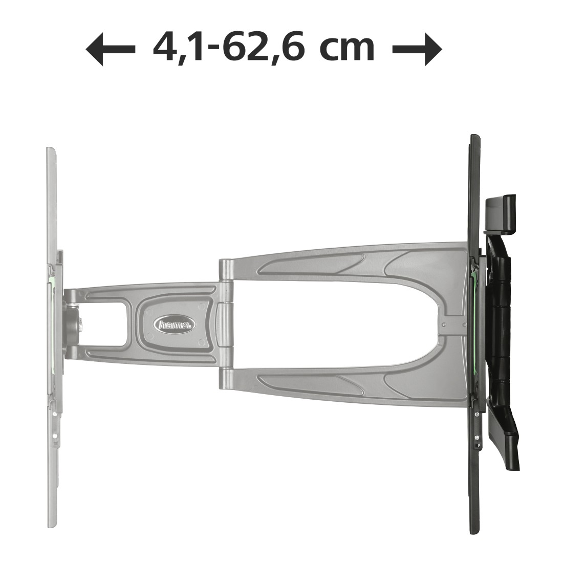 "dex3 High-Res Detail 3 - Hama, FULLMOTION TV Wall Bracket, 3 Stars, 165cm (65""), 2 Arm, black"