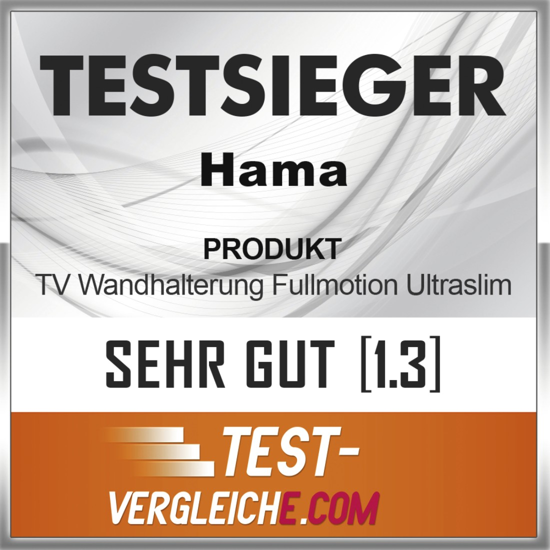 "tex2 Druckfähiges Testurteil 2 - Hama, FULLMOTION TV Wall Bracket, 3 Stars, 165cm (65""), 2 Arm, black"