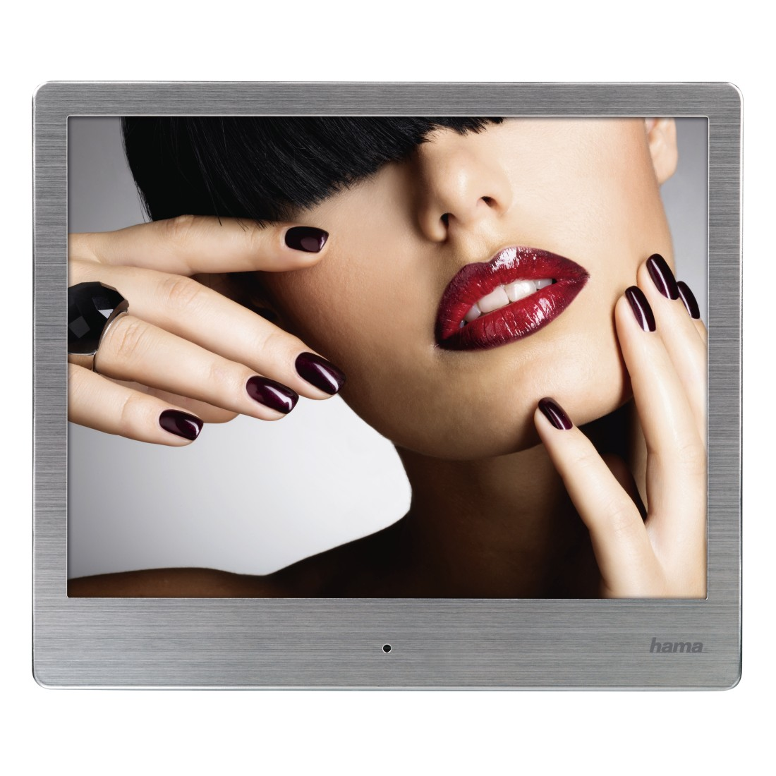"abx3 High-Res Image 3 - Hama, ""8SLB"" Digital Photo Frame, 20.32 cm (8.0""), slim steel, 1024 x 768 px"
