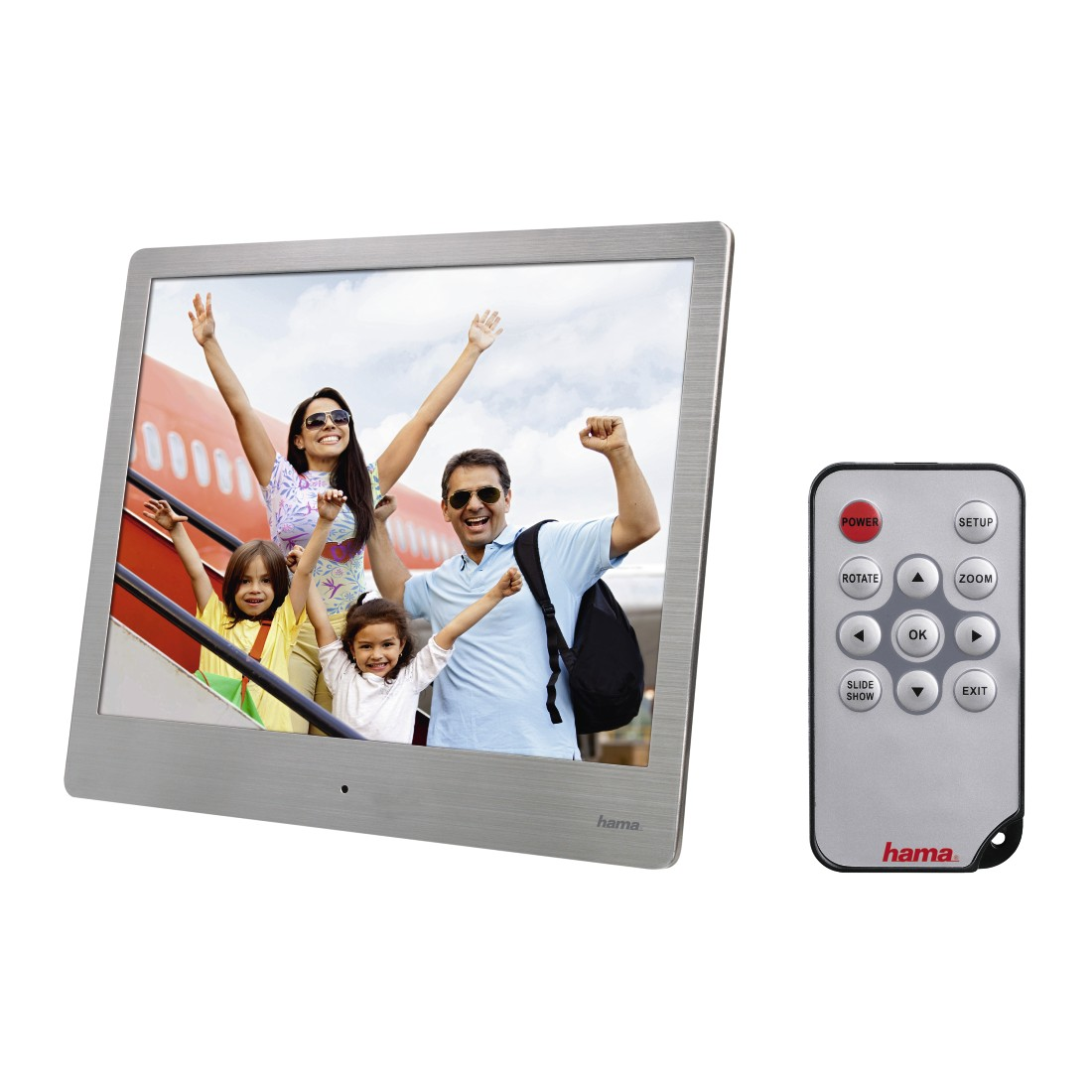 "abx4 High-Res Image4 - Hama, ""8SLB"" Digital Photo Frame, 20.32 cm (8.0""), slim steel, 1024 x 768 px"
