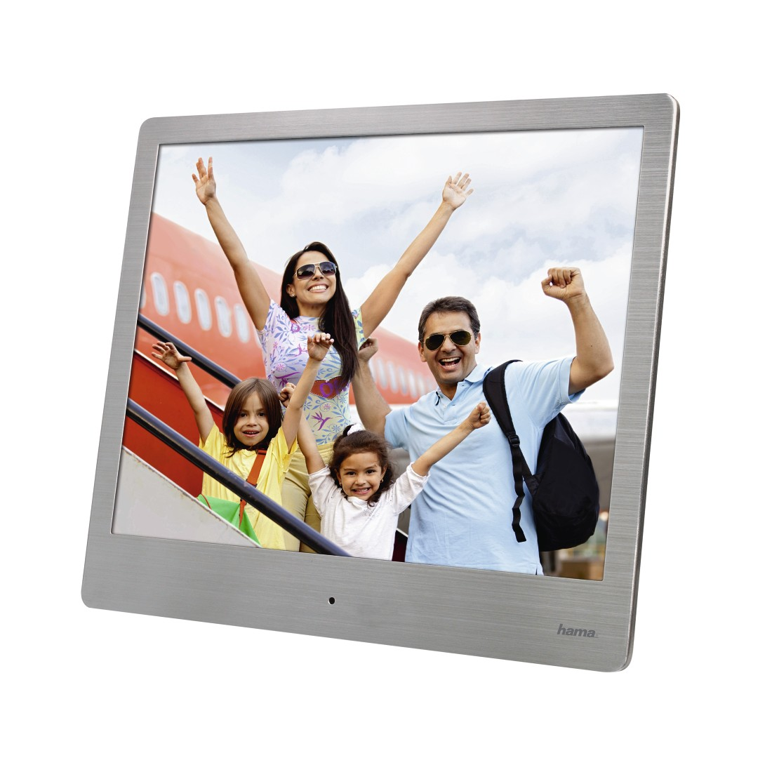 "abx5 High-Res Image 5 - Hama, ""8SLB"" Digital Photo Frame, 20.32 cm (8.0""), slim steel, 1024 x 768 px"