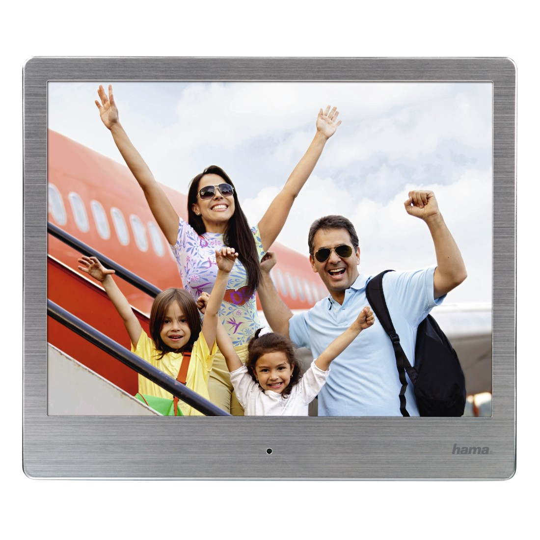 "abx6 High-Res Image 6 - Hama, ""8SLB"" Digital Photo Frame, 20.32 cm (8.0""), slim steel, 1024 x 768 px"