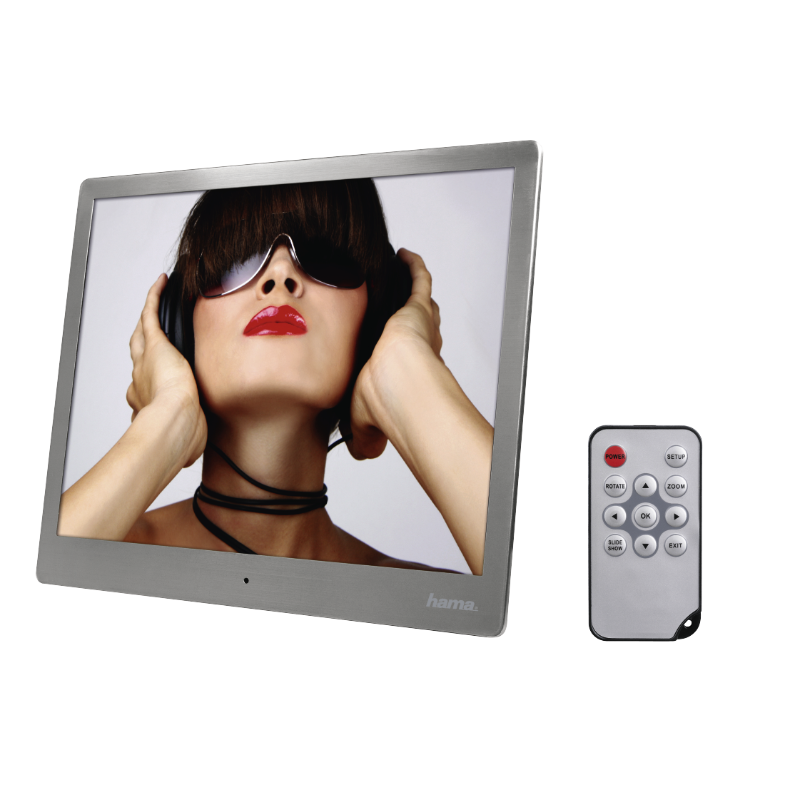 "abx High-Res Image - Hama, ""97SLB"" Digital Photo Frame, 24.64 cm (9.7""), slim steel"