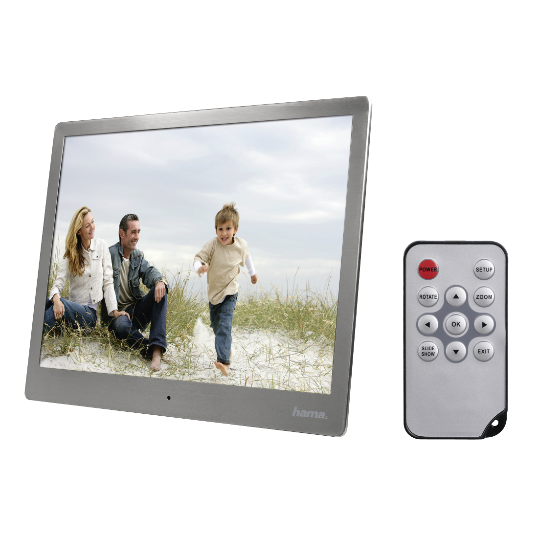 "abx4 High-Res Image4 - Hama, ""97SLB"" Digital Photo Frame, 24.64 cm (9.7""), slim steel"