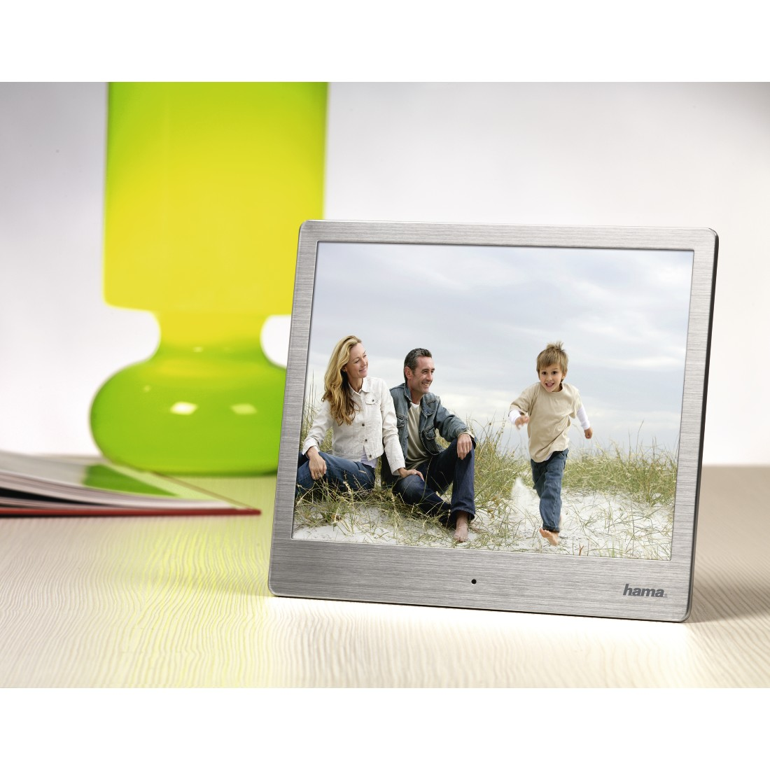 "awx High-Res Appliance - Hama, ""97SLB"" Digital Photo Frame, 24.64 cm (9.7""), slim steel"