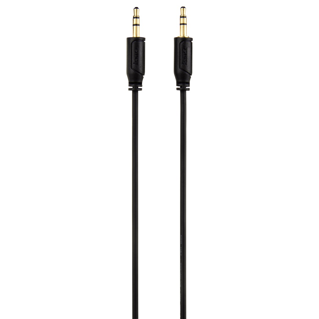 "abx2 High-Res Image 2 - Hama, Cablu audio ""Flexi-Slim"" jack 3.5 mm, aurit, negru, 0.75 m"