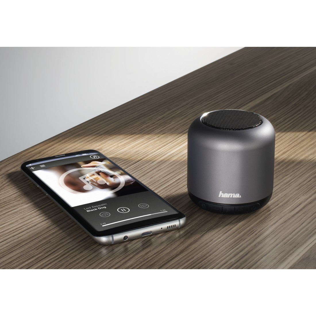 "awx High-Res Appliance - Hama, Boxa portabila bluetooth ""Steel Drum"" , antracit"