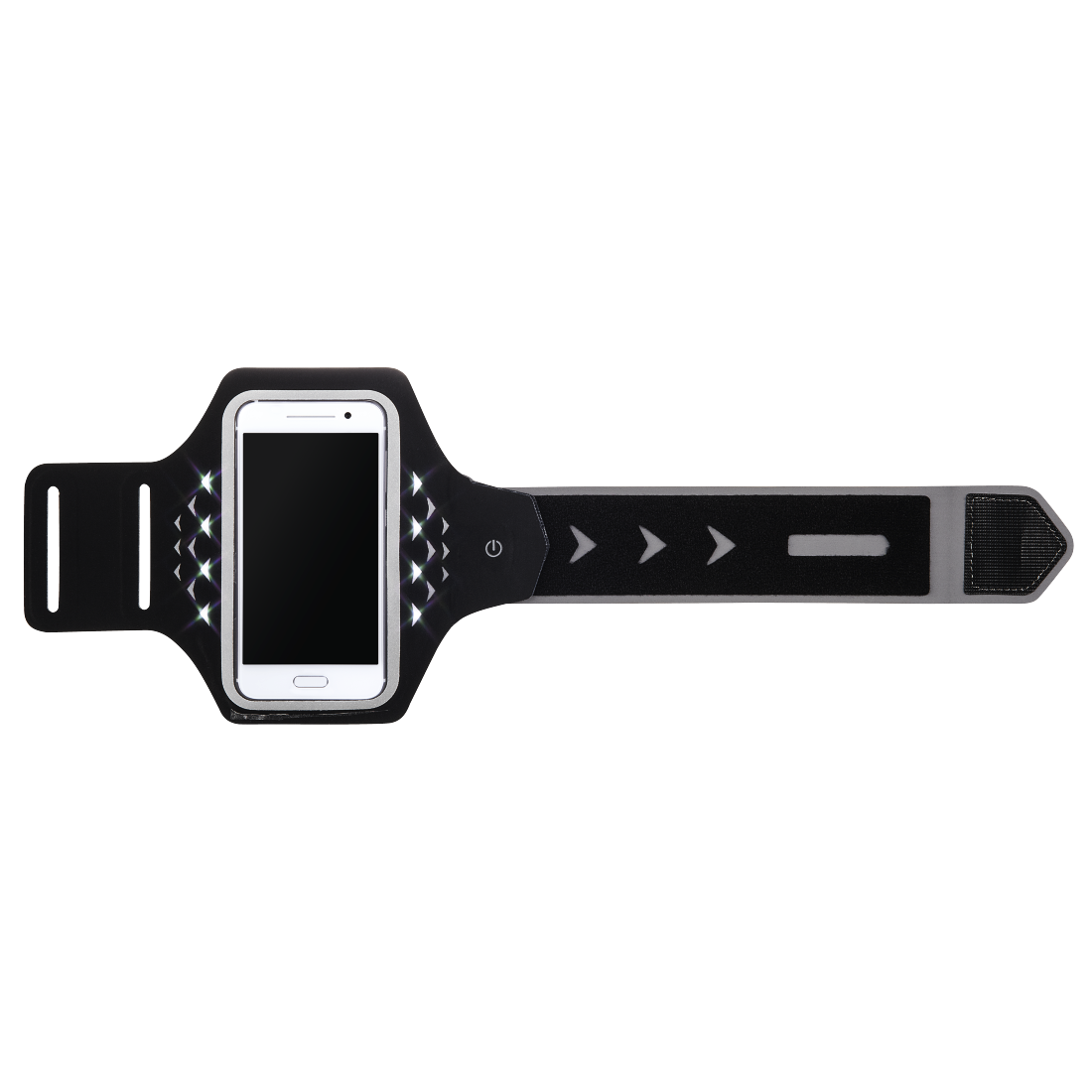 "abx2 High-Res Image 2 - Hama, ""Running"" Sports Arm Band for Smartphones, Size XL, with LED, black"