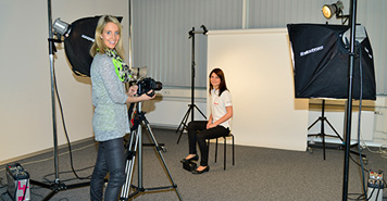 In the photo studio