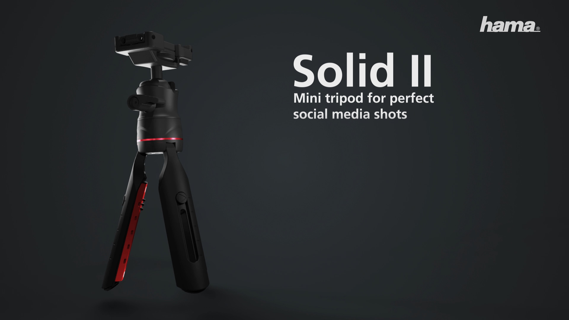 "Hama tripod ""Solid II, 21B"" for perfect social media shots, with Bluetooth remote trigger"